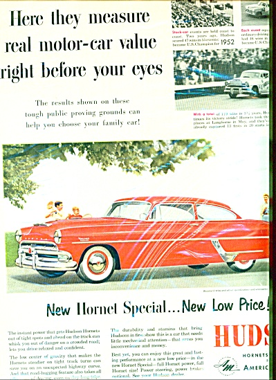 1954 AM Hudson Stock Car Hornet AD (Image1)