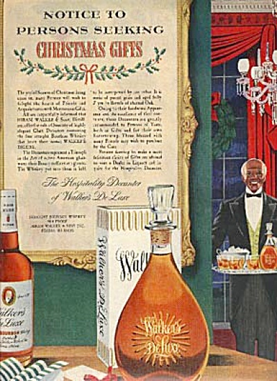 1954 Walker Whiskey Black Servant AD (Image1)