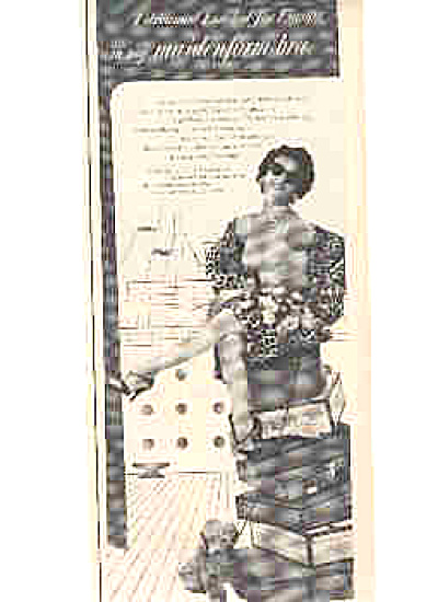 1954 Maidenform Lady In Bra Poodle Dog Ad (Image1)