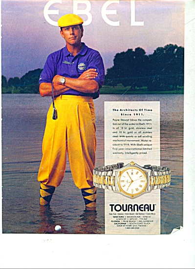 Payne Stewart Golfer Tourneau Watch Ad