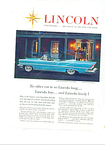 1957 LINCOLN CONVERTIBLE CAR Premiere (Image1)