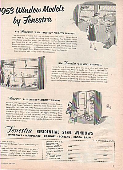 Fenestra steel windows ad 1953 (Image1)
