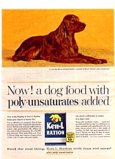 1962 Irish Setter Dog Ken-L-Ration Ad (Image1)