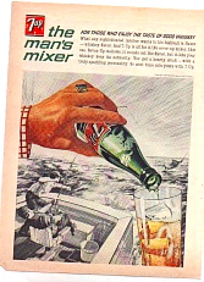 1964 7Up Seven Up Men On Fishing Boat AD (Image1)