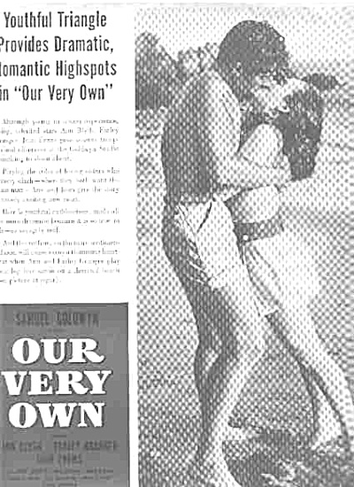 1950 Our Very Own Movie Ad  Samuel Goldwyn (Image1)
