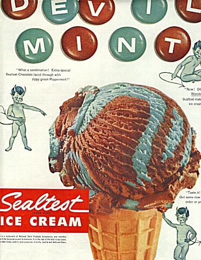1954 Nude Devil Boy Sealtest Ice Cream Ad