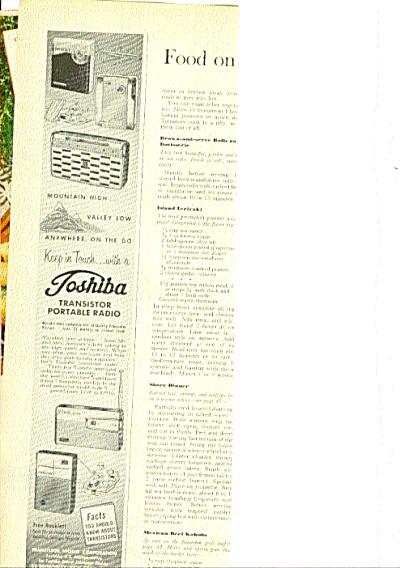 1960 Toshiba Transistor Portable Radio AD (Image1)