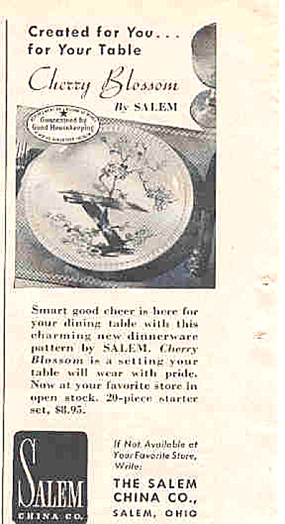 1950 Salem China Cherry Blossom (Image1)