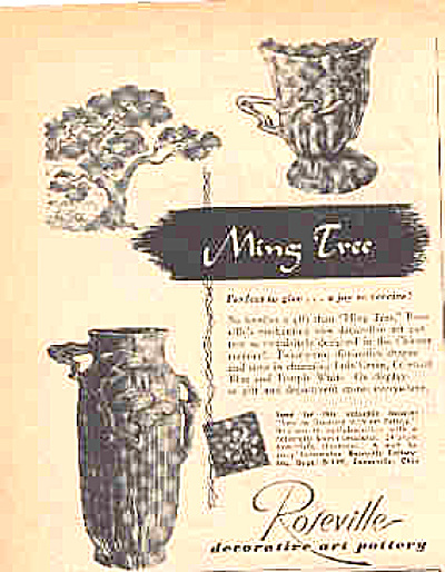 1949 Roseville MingTree Decorative Pottery Ad (Image1)