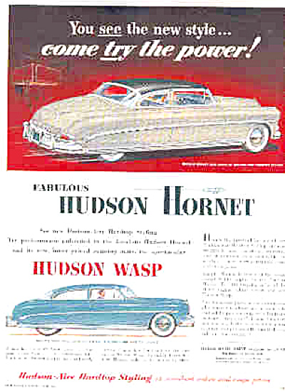 1952 Hudson Hornet Hudson Wasp Car Ad (Image1)