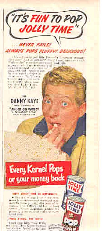 1953 Jolly Time Popcorn Danny Kaye Ad (Image1)