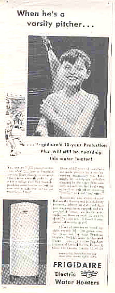 1949 Frigidaire Nude Boy In Shower Ad (Image1)