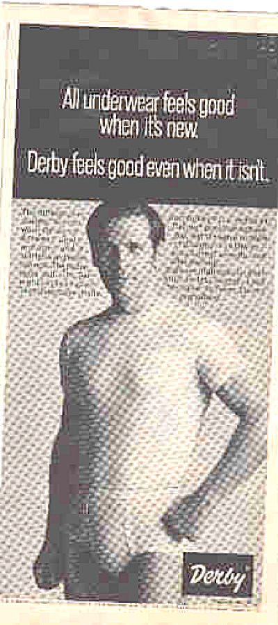 1970 Sexy Man In Derby Underwear Ad (Image1)
