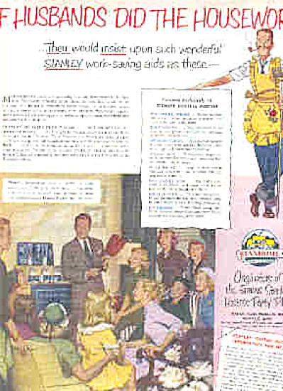1951 Stanley Home Party Man In Apron Ad (Image1)