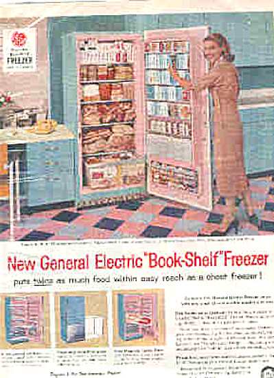 1957 General Electric Lady InRetro Kitchen Ad (Image1)