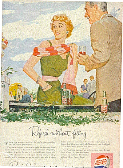 1954  Woman  & Man Pepsi Cola Ad (Image1)