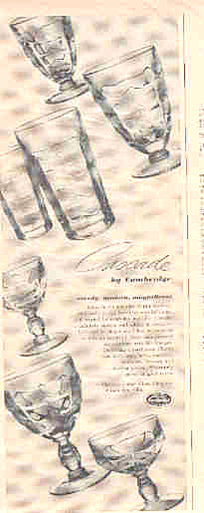 1949 Cascade Glasses By Cambridge Ad
