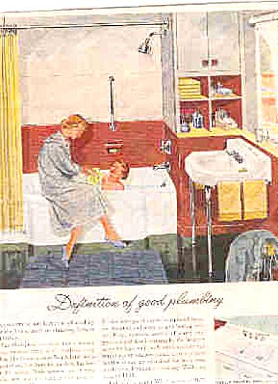 1951  Kohler Child - Kid In Bathtub Ad (Image1)