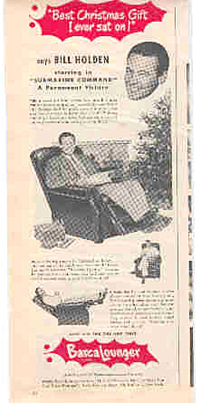 1951 Barca Lounger Bill Holden Ad (Image1)