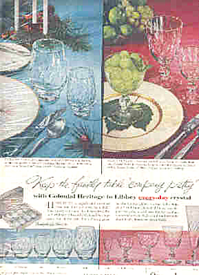 1957 Libbey Colonial Heritage Glasses Ad (Image1)