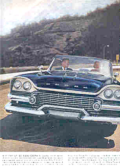 1958 DODGE CAR Swept Wing AD ORIGINAL (Image1)