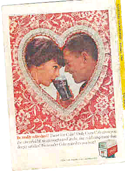 1960 Valentine Couple Coke Ad (Image1)