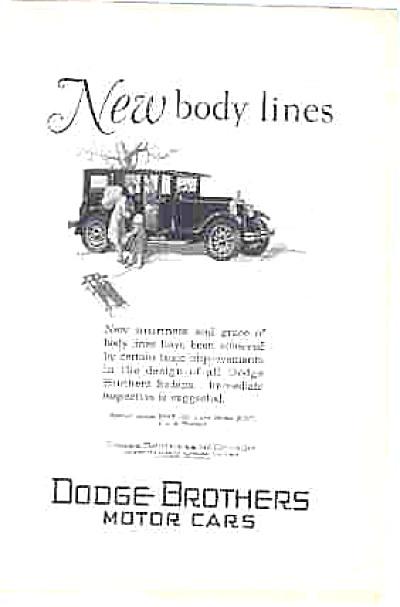1927 Dodge Brothers Motor Car Ad Vintage ORIG (Image1)
