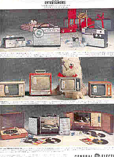 1963 General Electric Radio Tv Stereo Ad