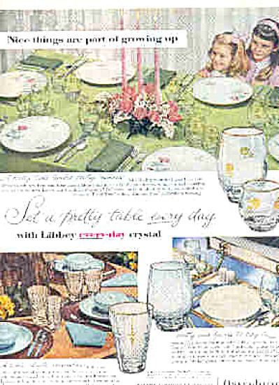 1957 Libbey Glass Provincial Rose Staccato+AD (Image1)