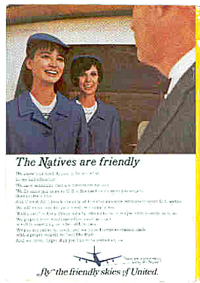 1966 United Airlines Stewardess Ad (Image1)