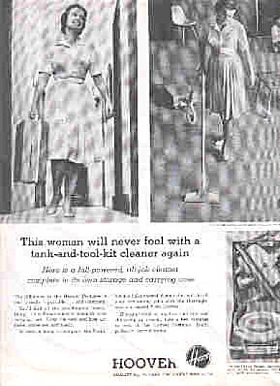 1963 Hoover Portable Vacumn Cleaner Ad