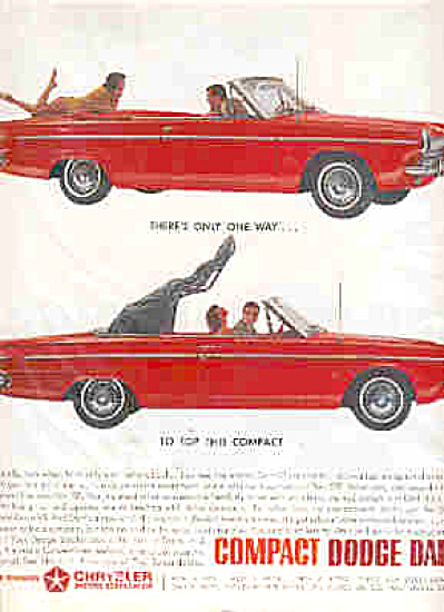 1963 Red Dodge Dart GT Convertible Ad (Image1)