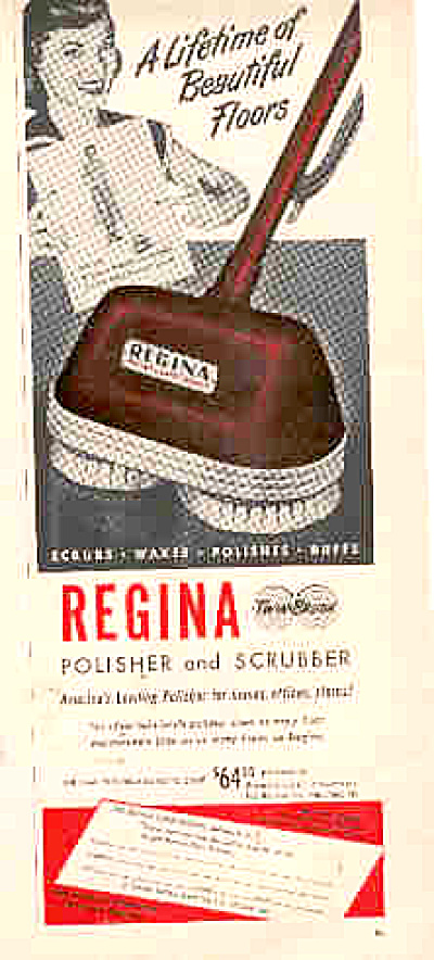 1952 Regina Polisher And Scrubber Ad (Image1)