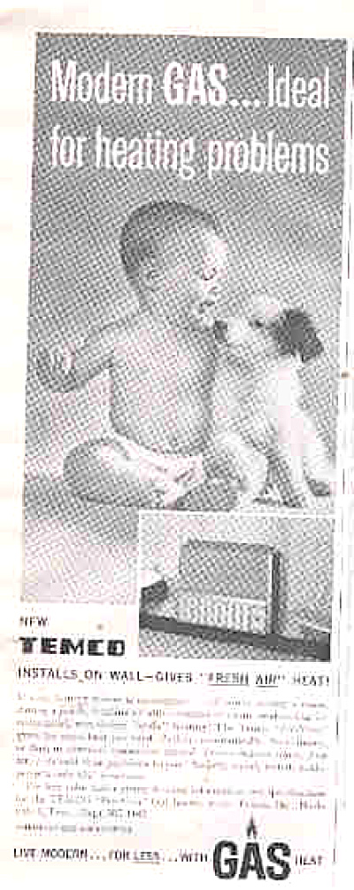 1962 Temco  Heater Baby With Dog Ad (Image1)