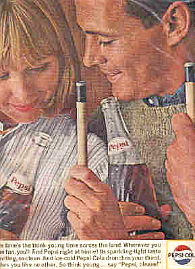 1964 Pepsi Couple Playing Pool Ad (Image1)