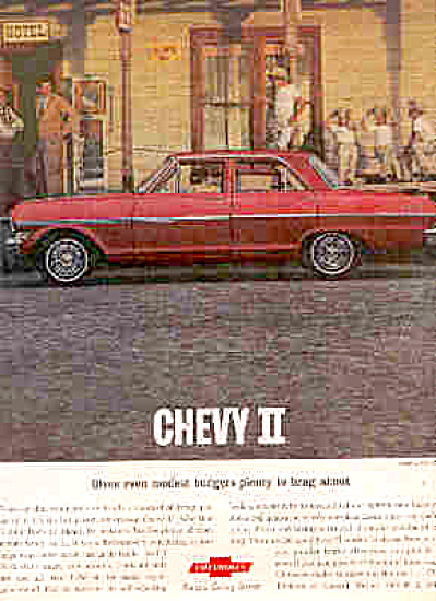 1963 Chevy II Chevrolet Little Cowboys Car Ad (Image1)
