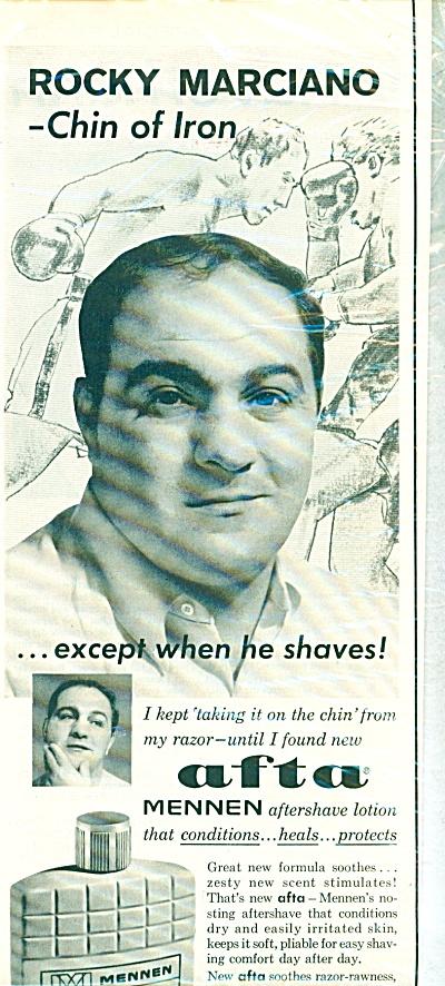 1963 Boxer Rocky Marciano Afta Mennen Ad (Image1)