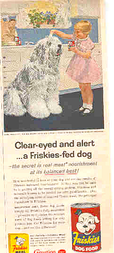 1957 Friskies Dog Food Sheep Dog Ad (Image1)