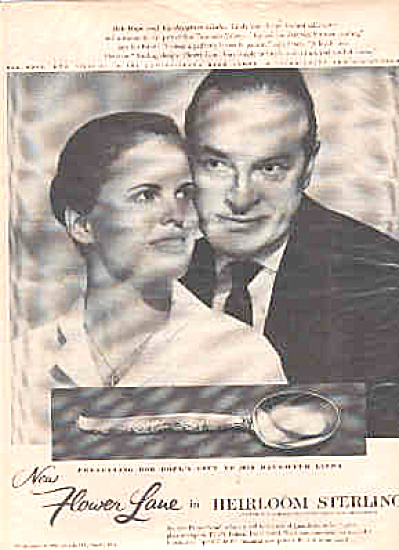1957 Heirloom Sterling Linda Bob Hope Ad (Image1)
