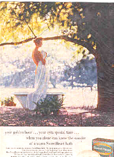 1957 Sweet Heart Soap Nude Lady Ad (Image1)
