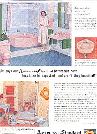 1957 American Standard Boys In Tub Ad (Image1)
