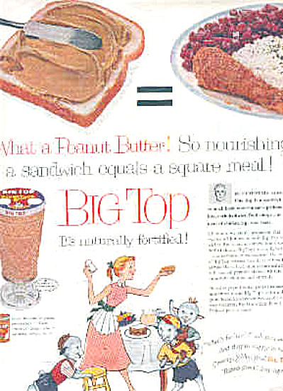 1957 Big Top Peanut Butter EA Glasses Ad (Image1)