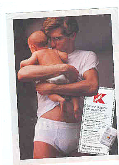 1991 FOTL Man And Baby In Underwear Ad (Image1)