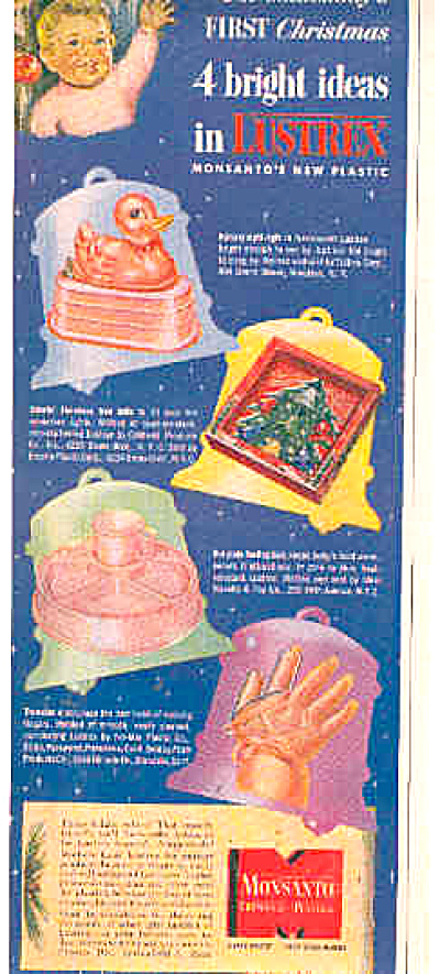 1948 Monsanto Lustrex Ducky Gift Ideas Ad