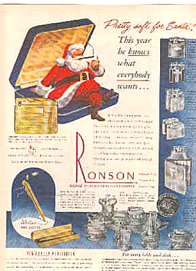 1948 Ronson Lighters Ad (Image1)