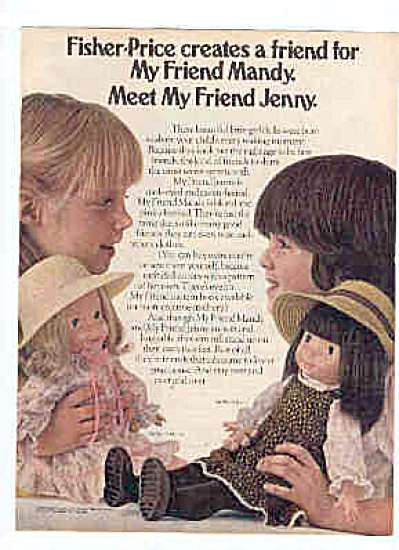 1980 Fisher Price My Friend MANDY JENNY AD (Image1)