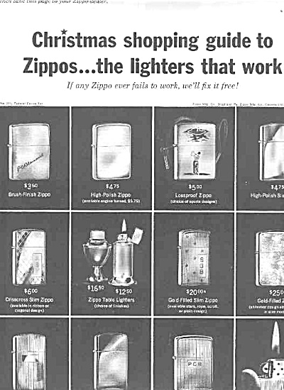 1966 Shopping Guide Zippo  Lighters Ad (Image1)