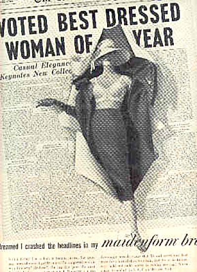1957 I Dreamed Headlines Maidenform Bra Ad (Image1)