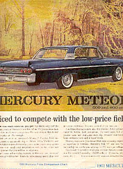 1961 Mercury Meteor Car Ad (Image1)