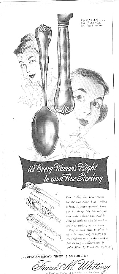 1948 Sterling Silverware Frank M. Whiting Ad (Image1)